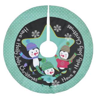 Penguin Holly Jolly Christmas 4 Holiday Tree Skirt