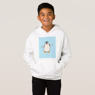 Penguin Hug Illustration Hoodie