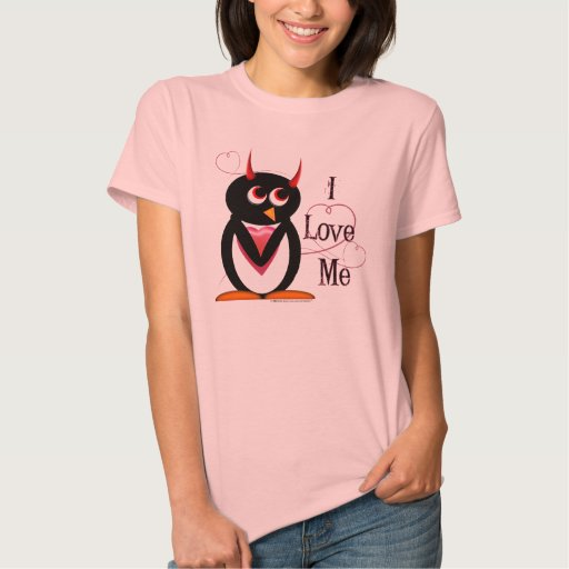 Penguin I LOVE ME Tshirts