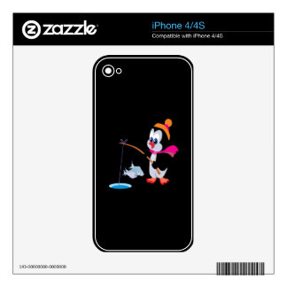 Penguin Ice Fishing 2 Decals For The iPhone 4S