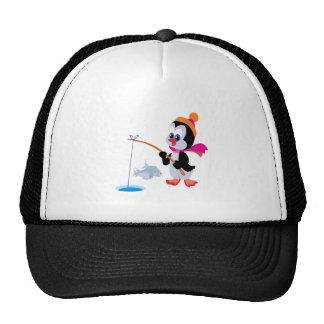 Penguin Ice Fishing 2 Trucker Hat