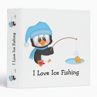 Penguin Ice Fishing 3 Ring Binder
