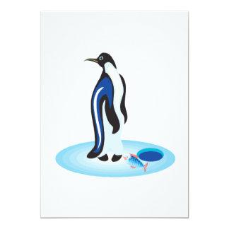 Penguin Ice Fishing Card