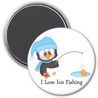 Penguin Ice Fishing Refrigerator Magnets