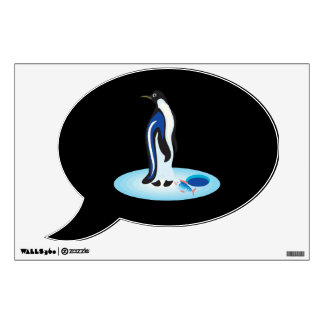Penguin Ice Fishing Wall Decal