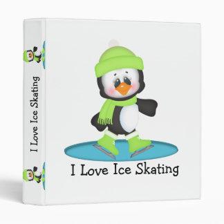 Penguin Ice Skating 3 Ring Binder