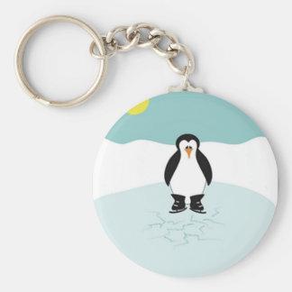 Penguin Ice Skating Keychains