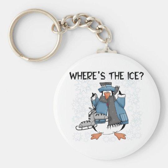 Penguin Ice Skating Keychain