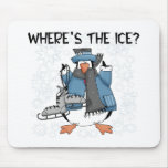 Penguin Ice Skating Mouse Pad