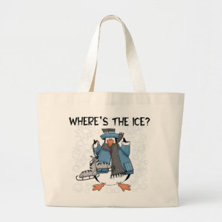 Penguin Ice Skating Tshirts and Gifts Tote Bags