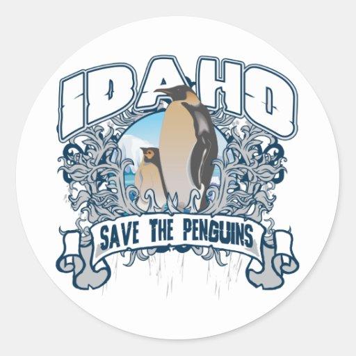 Penguin Idaho Classic Round Sticker