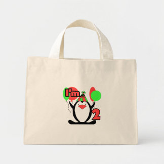 Penguin I'm Two Tshirts and Gifts Mini Tote Bag