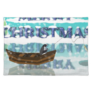 penguin in a boat.jpg cloth placemat