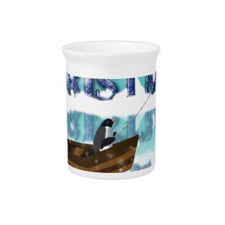 penguin in a boat.jpg drink pitcher
