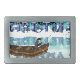 penguin in a boat.jpg rectangular belt buckle