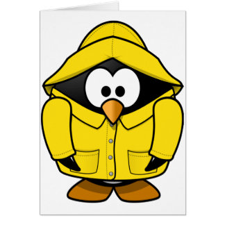 Penguin In A Raincoat Note Cards