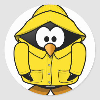 Penguin In A Raincoat Stickers