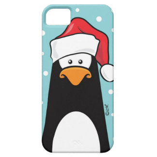 Penguin in a Santa Hat iPhone SE/5/5s Case
