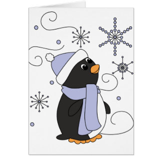 Penguin in Awe Card