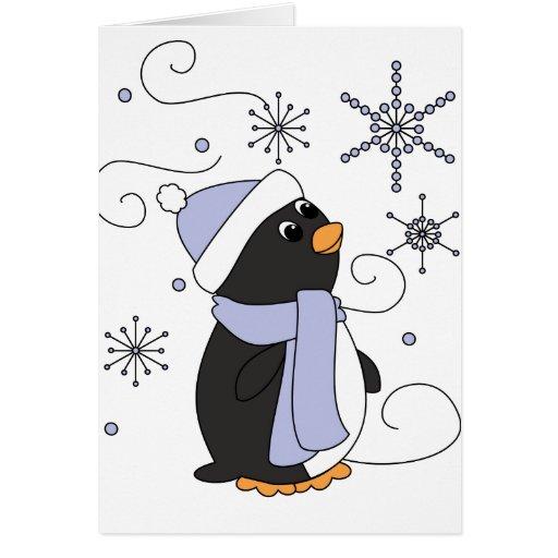 Penguin in Awe Greeting Card