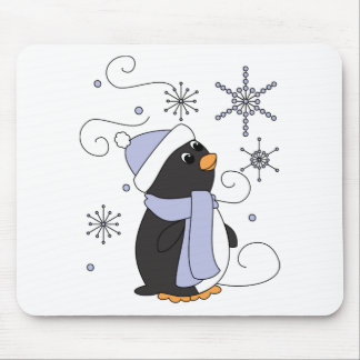 Penguin in Awe Mouse Pad