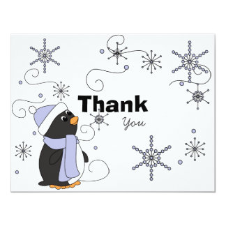 Penguin in Awe Thank You Note Card