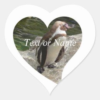 penguin in heart shape heart stickers