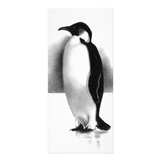 PENGUIN IN PENCIL: REALISM ART CUSTOMIZED RACK CARD