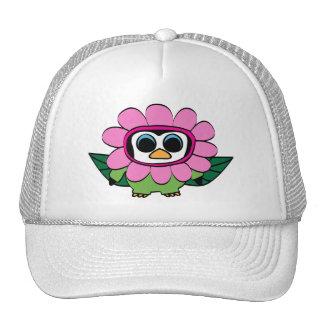 Penguin in Pink Flower Costume Trucker Hat