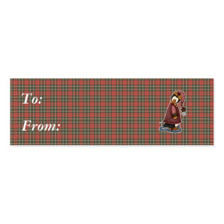 penguin in snow shoes business card
