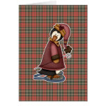 penguin in snow shoes greeting card