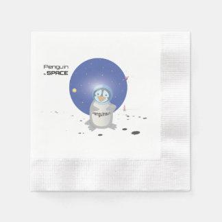 Penguin in Space Paper Napkin