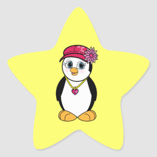 Penguin in Stylish Hat and Necklace Sticker