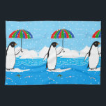 """Penguin in the Snow on Kitchen Towel<br><div class=""""desc"""">Penguin in the Snow on Kitchen Towel</div>"""