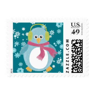 Penguin in the Snow Postage