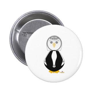 Penguin In Wedding Dress Button