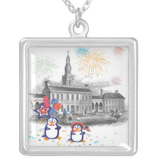 Penguin Independence Day Necklace