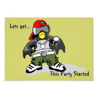 Penguin Invitation Card