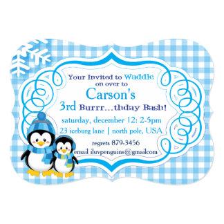 Penguin Invite in Blue