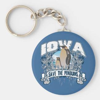 Penguin Iowa Keychain