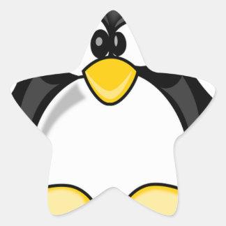 Penguin items star sticker
