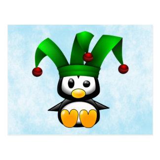 Penguin Jester Postcard
