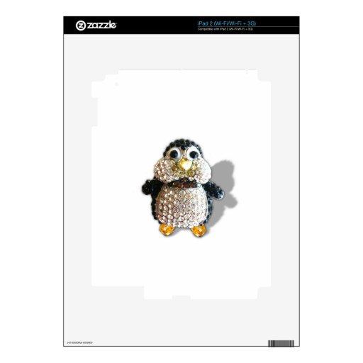 Penguin Jewel Add Text  & Choose Colors You Want iPad 2 Skin