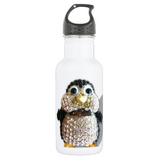 Penguin Jewel Add Text  & Choose Colors You Want Water Bottle