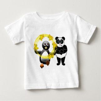 PENGUIN JUGGLING DUCKS PANDA BEAR DISAPPROVING BABY T-Shirt