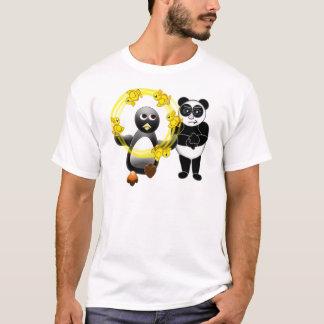 PENGUIN JUGGLING DUCKS PANDA BEAR DISAPPROVING T-Shirt