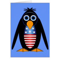 penguin July 4th Card