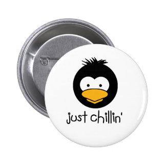 penguin just chillin button