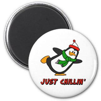 Penguin Just Chillin Fridge Magnets
