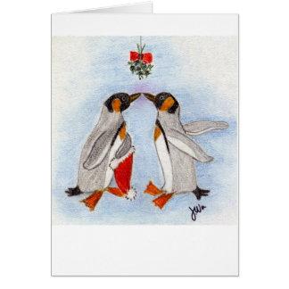 Penguin Kiss card
